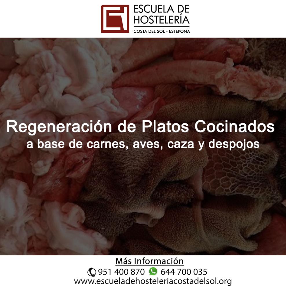 Regeneración de platos cocinados a base de carnes, aves, caza y despojos